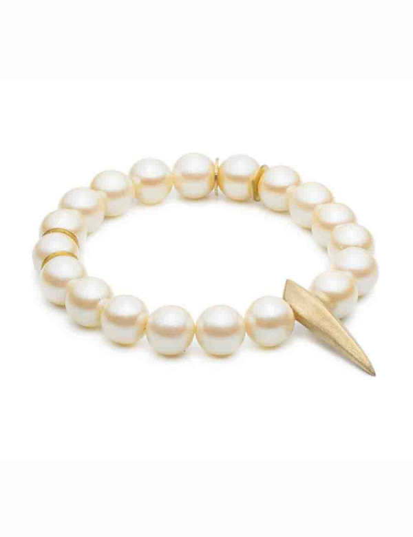 Natalie Frigo Medium Claw And Pearls Bracelet