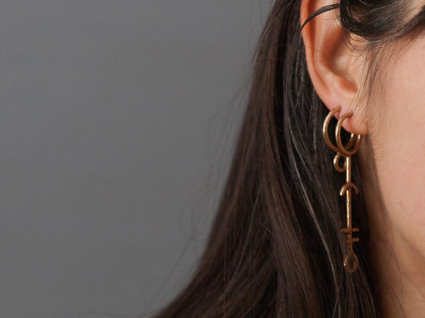 Laurel Hill Jewelry - Hawthorn Rune Hoops
