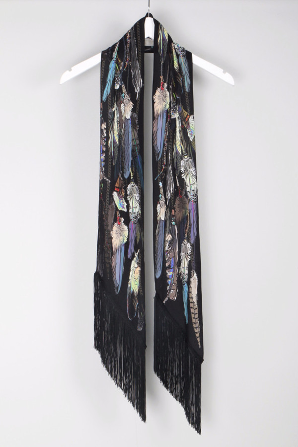 Rockins Feathers Classic Skinny Scarf