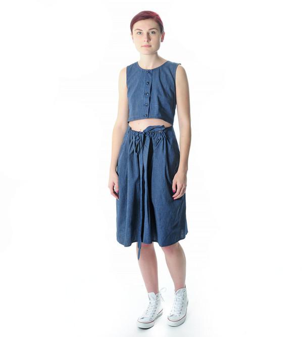 Caron Callahan Indigo Stripe Ripley Dress