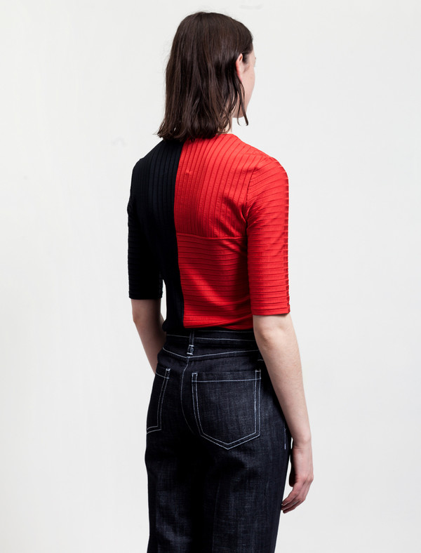 Trademark Womens Colourblock Ribbed T-Shirt