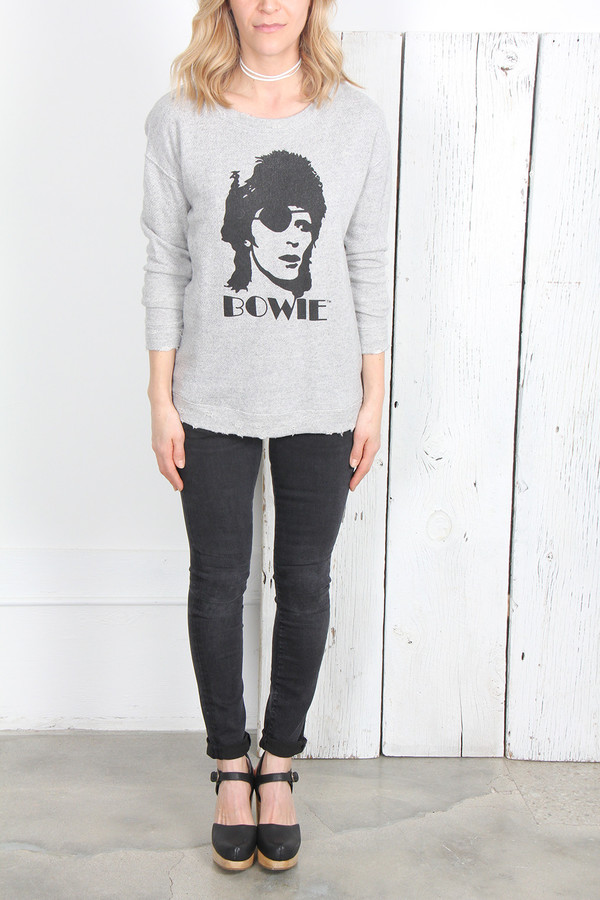 R13 BOWIE DISTRESSED SWEATSHIRT