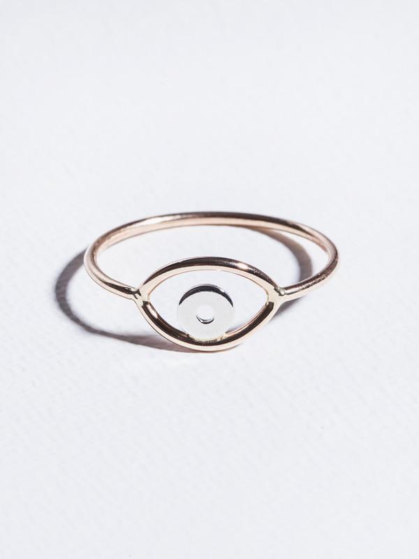 STEFANIE SHEEHAN Gold Evil Eye Ring