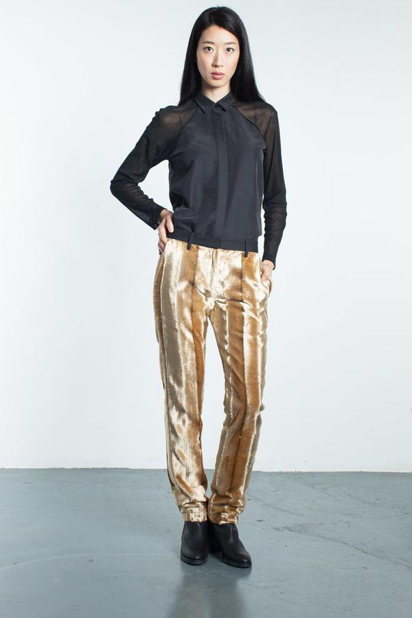 Mandarin & General Faux Fur Trousers