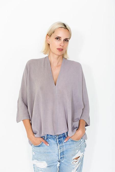 Miranda Bennett Muse Top, Cotton Gauze in Salton
