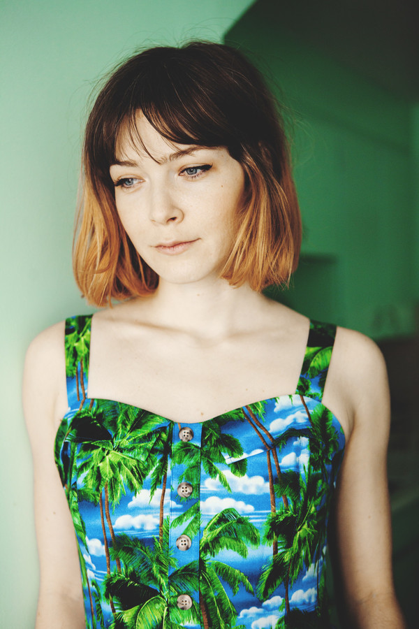 Birds of North America Sylph Dress (Palm Trees)