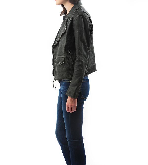 Lot 78 Distressed Leather Biker Jacket