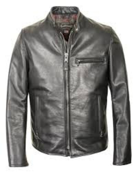 Men's Schott Cafe Racer Leather Jacket