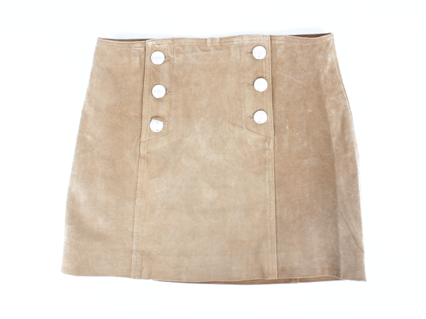 Capulet Front Button Mini Skirt