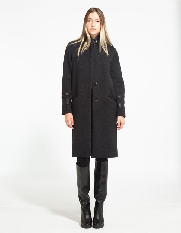 VEDA Blue Coat In Charcoal