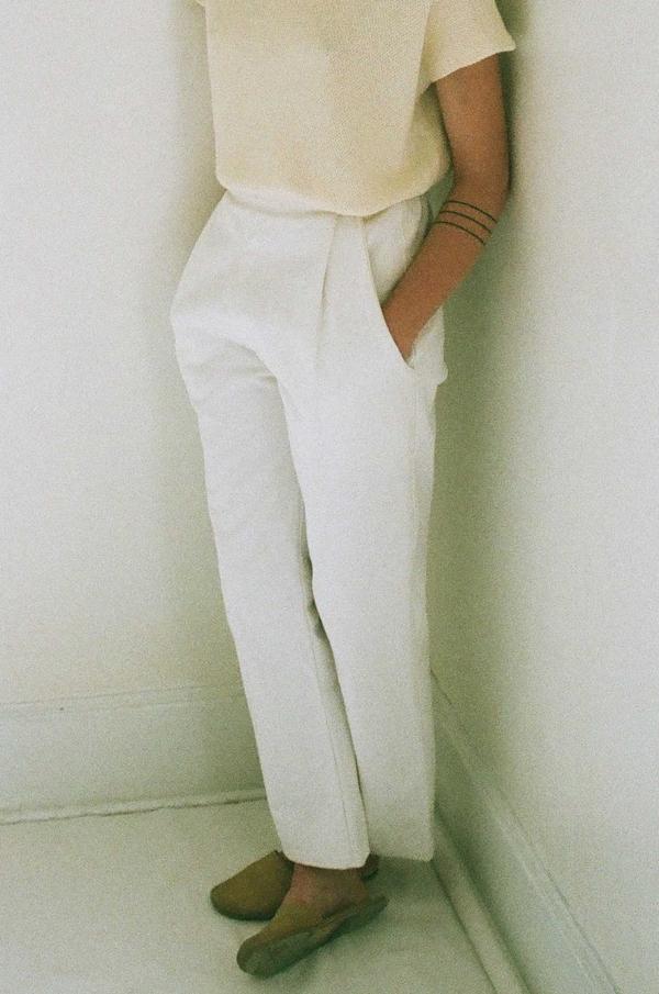 Han Starnes Wide Leg Pant - White