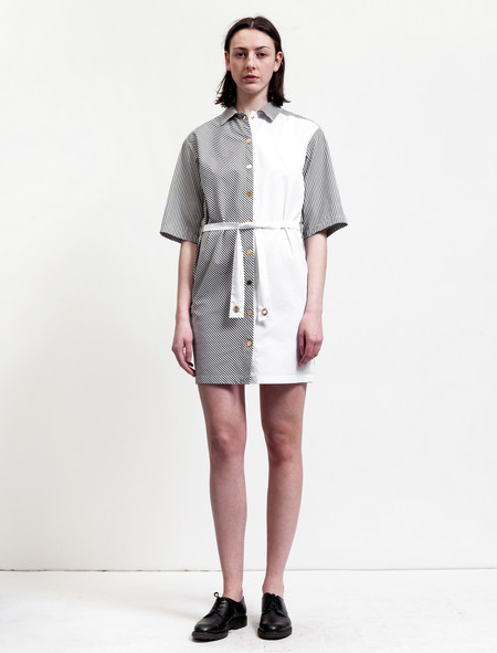 Etienne Deroeux Womens Laika Striped Shirtdress