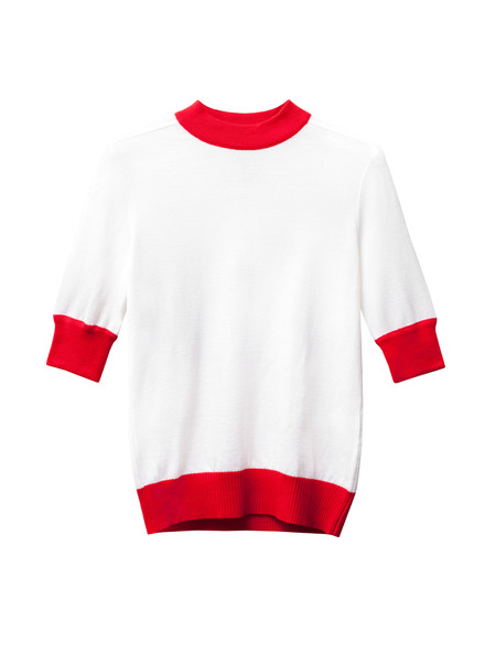 Etienne Deroeux Womens Mila Short Sleeve Red/White