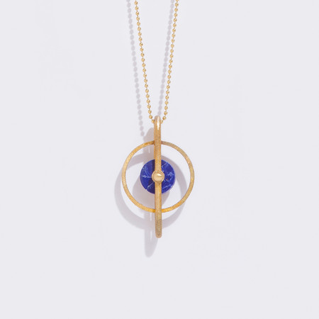 Metalepsis Projects Disc Pendant - Blue Stone