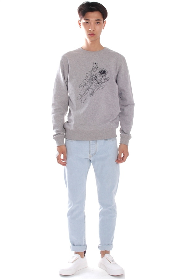Men's Soulland Jensen Sweater Grey