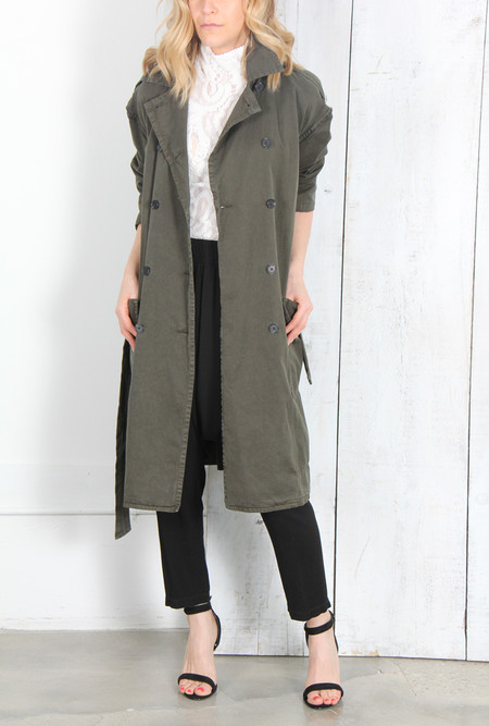 RAQUEL ALLEGRA MILITARY TRENCH IN OLIVE
