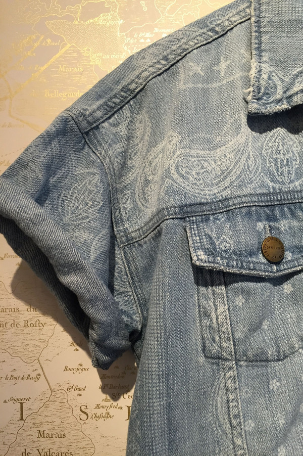 Current Elliott 'Rolled sleeve trucker' denim jacket
