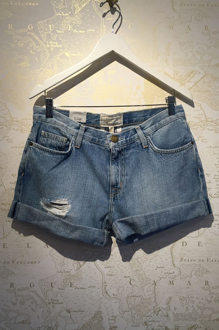 Current Elliott Boyfriend rolled cuff denim short