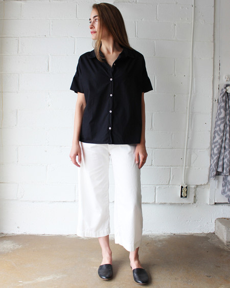 esby STELLA BUTTON DOWN - BLACK INK