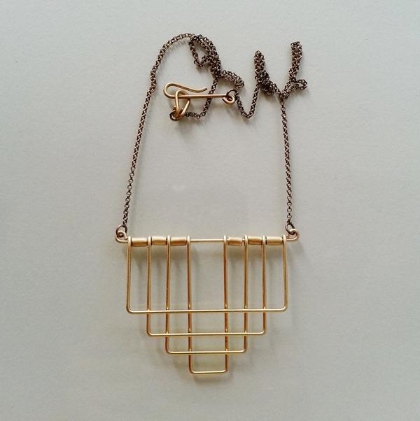 Hellbent Deco Rectangle Necklace