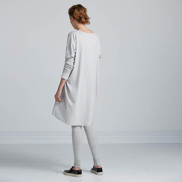Kowtow Building Block Oversized Dress - grey marle
