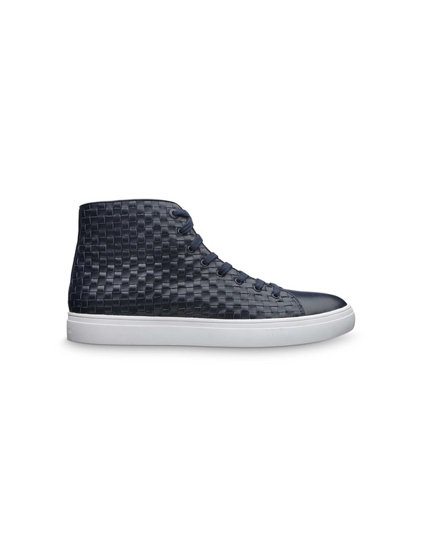Mens Tiger of Sweden Yngve Woven Leather Hi Top