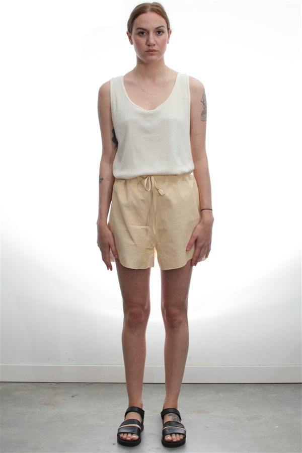 BaseRange Cut Out Leather Short