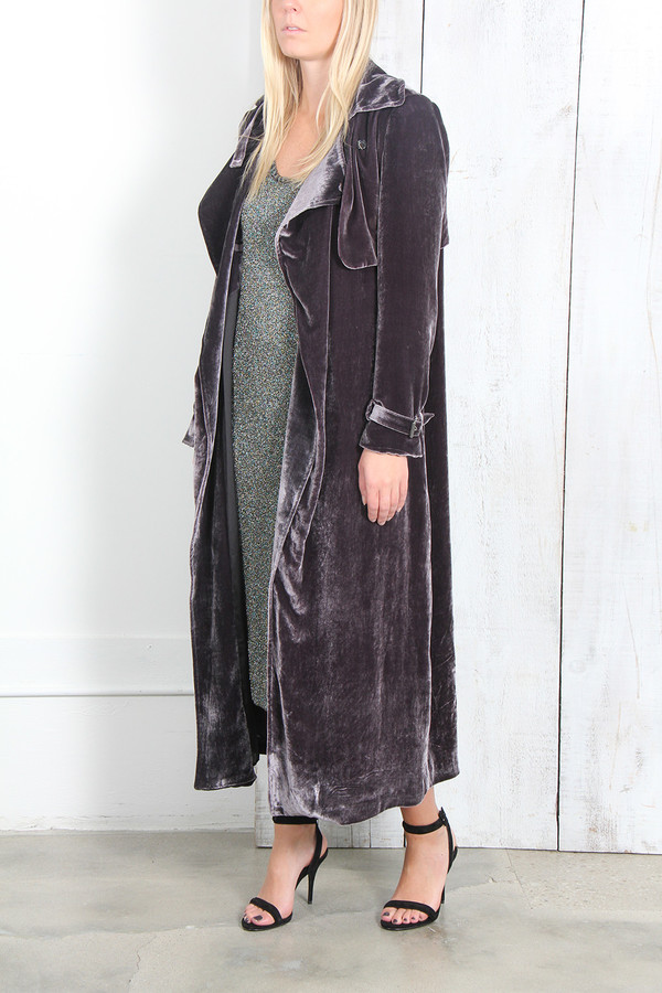 Rachel Comey TALUS COAT IN STONED VELVET