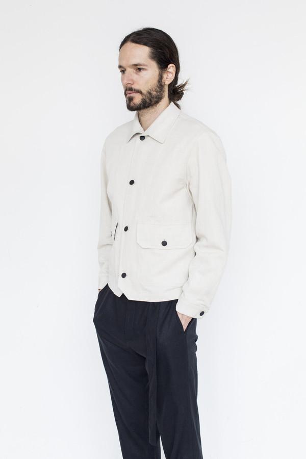Men's Assembly Cotton Button Jacket - Natural