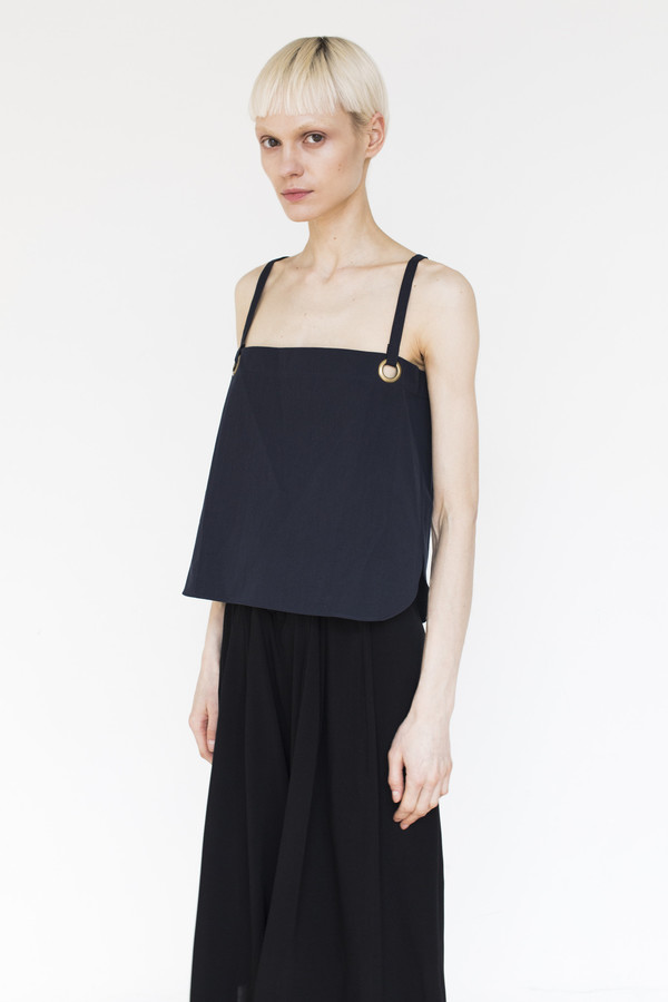 Assembly Cotton Strap Top - Navy