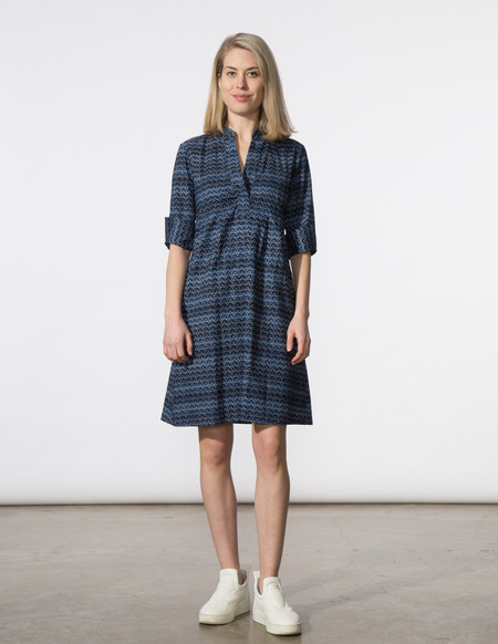 SBJ Austin Ellen Dress in Navy Print