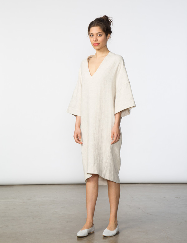 SBJ Austin Sadie Dress in Cream Textured