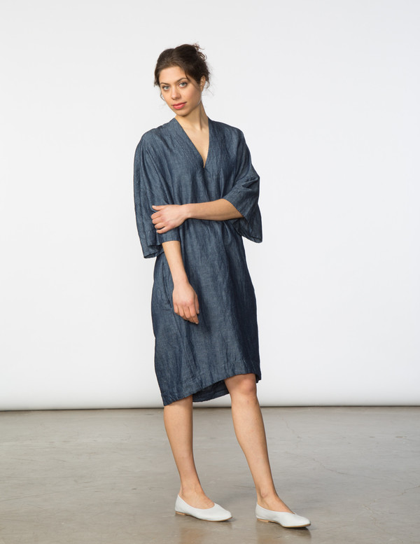 SBJ Austin Sadie Dress in Chambray