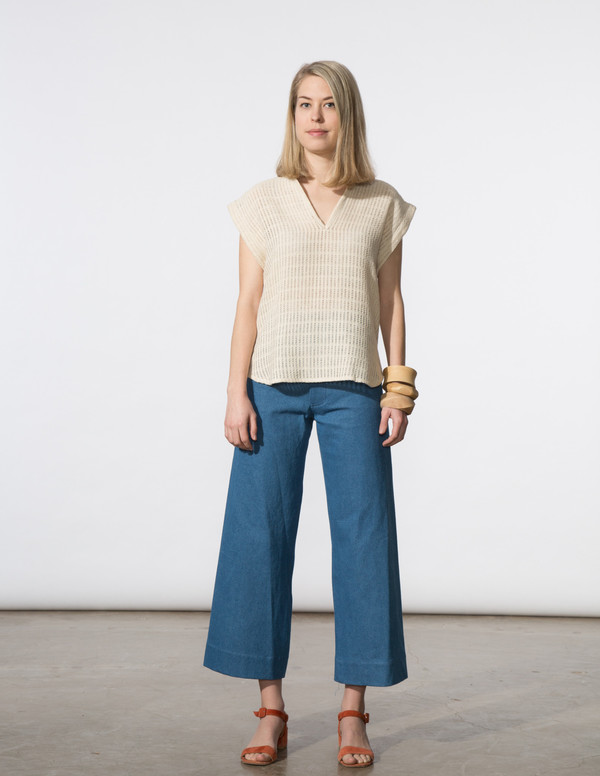 SBJ Austin Vivienne Top in Natural Woven