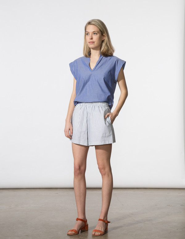 SBJ Austin Vivienne Top in Blue Featherweight
