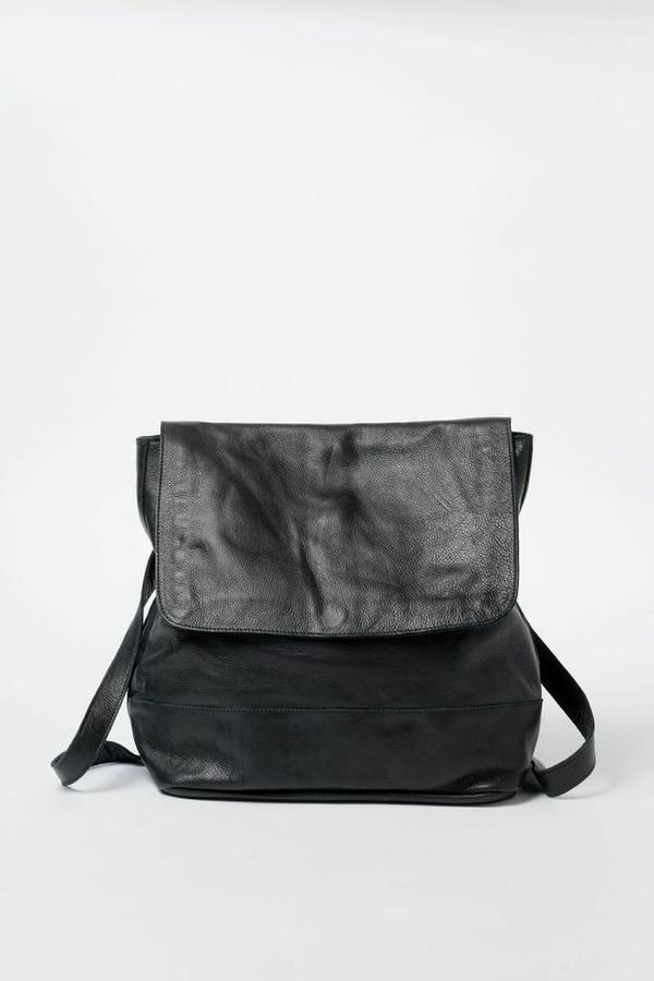 Clyde Leather Room Backpack - Black
