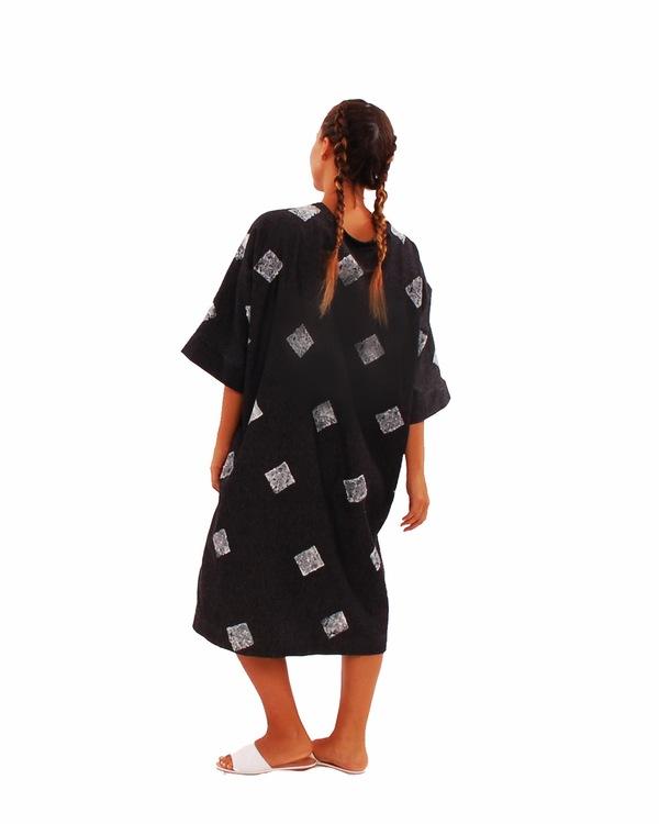 323 Hand Stamped Kimono Dress