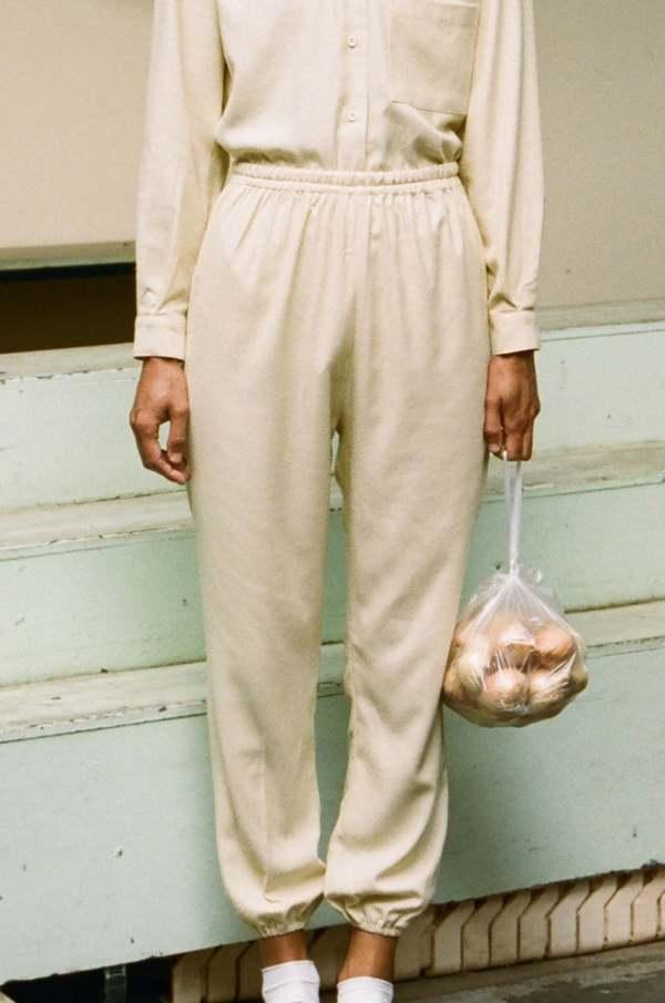 Baserange Raw Silk Jogging Pants