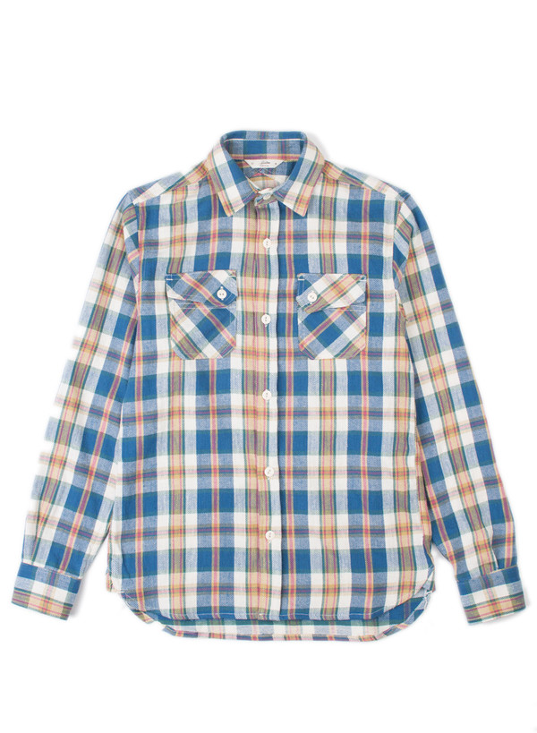 3Sixteen Crosscut Flannel SS16 Blue Check
