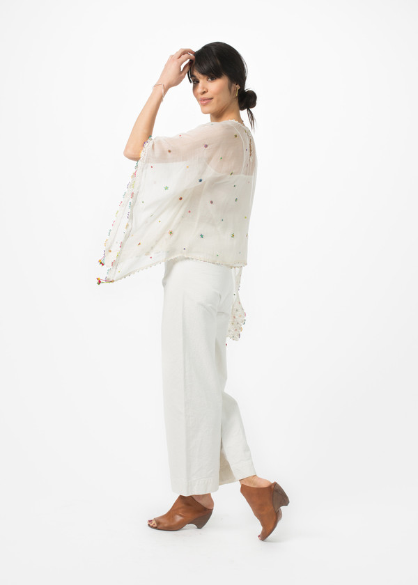 Pero Beaded Embroidery Top