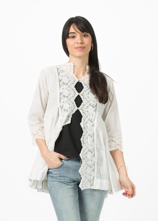 Pero Lace Front Button Up