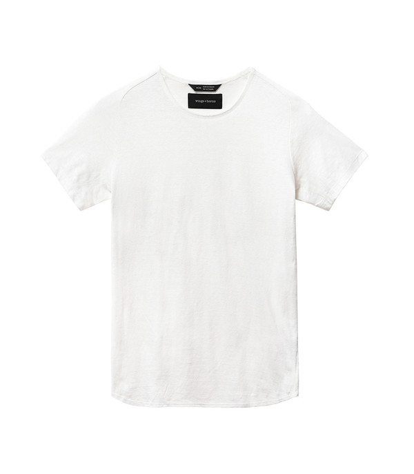 Wings + Horns Men's Knit Silk Jersey S/S WHT