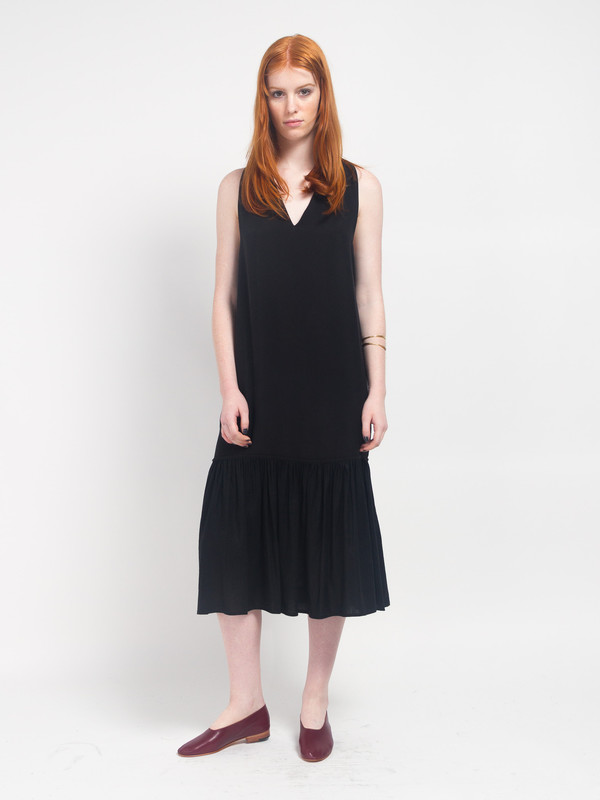 Howard Column Dress Licorice