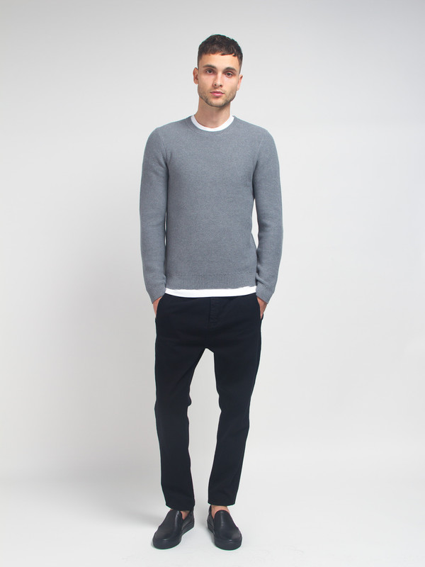 Men's Folk Honeycomb Knit Sweater