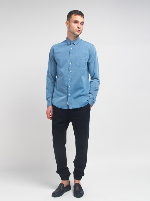 Men's Schnayderman Leisure Denim Shirt