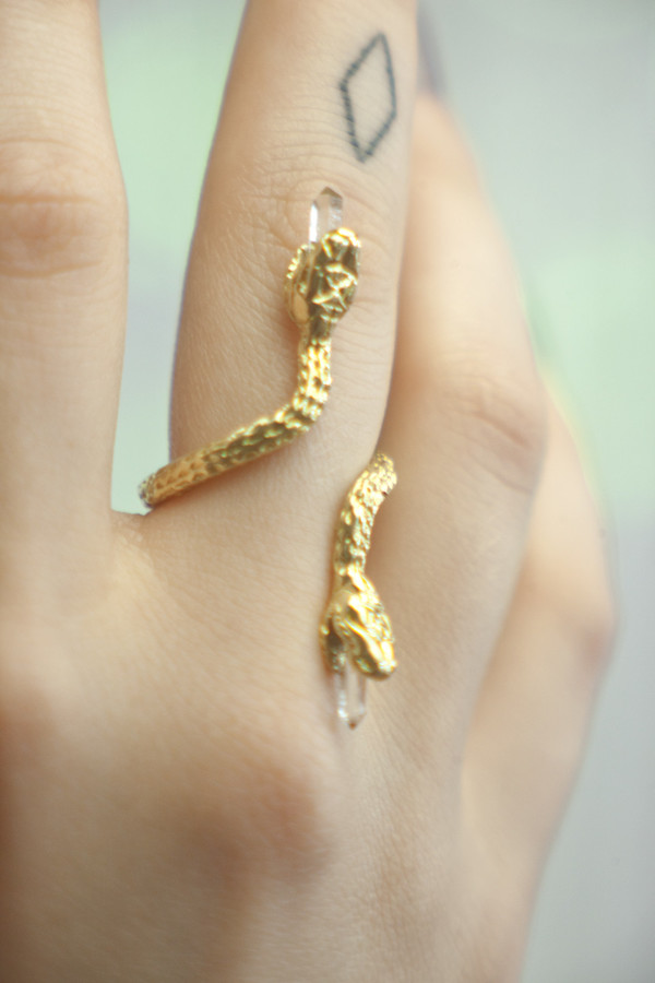 Good Girl Jewelry Swimming Serpent Ring