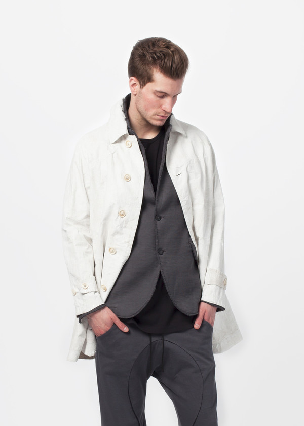 Men's Sage de Cret Five Button Painted Coat
