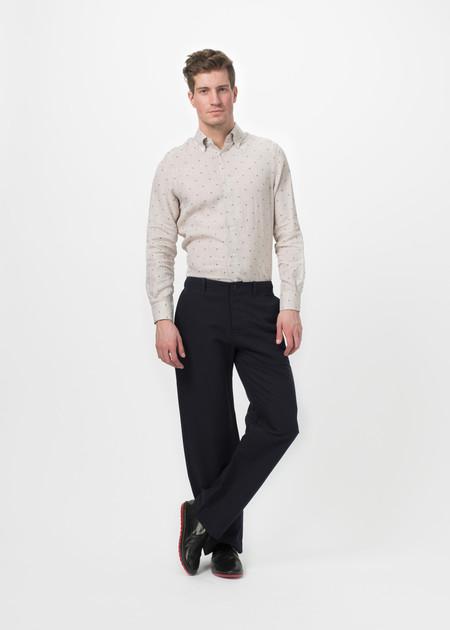 Men's You Must Create Herringbone Wide Leg Trouser