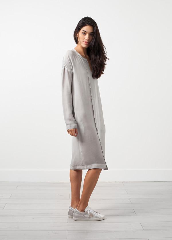 Kristensen du Nord Long Sleeve Silk Dress