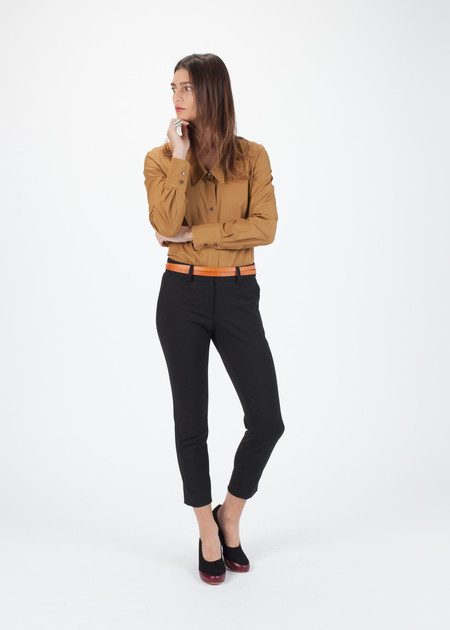 Amelia Toro Stretch Fitted Pant in Black